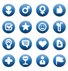 Buttons for dating and love vector image