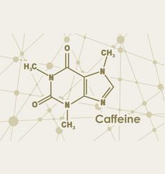 Caffeine molecular formula vector