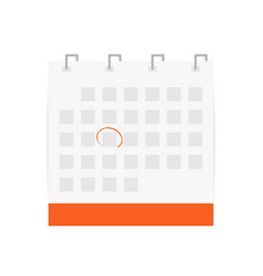 calendar icon with circled date calendar symbol vector image