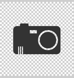 camera icon on isolated background flat vector image