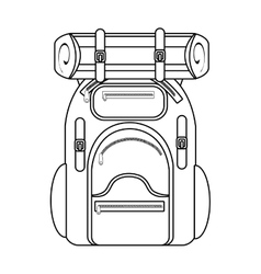 camping backpack graphic vector image