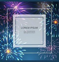 celebration colorful bright background vector image