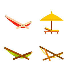 chaise icon set flat style vector image