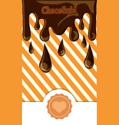 chocolate concept design vector image