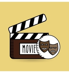Clapper movie hand icon design vector
