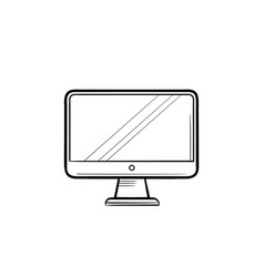 computer display hand drawn outline doodle icon vector image
