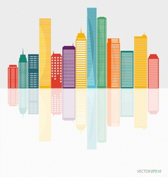 Creative building design template for your company vector image
