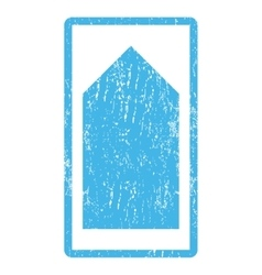 Direction Up Icon Rubber Stamp vector