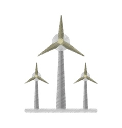 ecology wind turbine electricity generator ed vector image