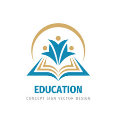 Education badge logo design university high vector