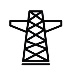 Electric tower icon isolated on white background vector