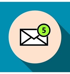 Email symbol letter icon - vector image