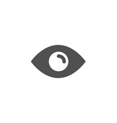 eye simple icon look or optical vision sign vector image