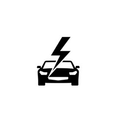 fast car flat icon vector image