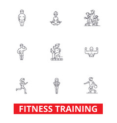 fitness class gym workout running crossfit vector image