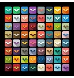 Flat design bat vector image