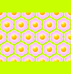 floral seamless pattern made pink flowers vector image