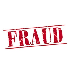 fraud red grunge vintage stamp isolated on white vector image