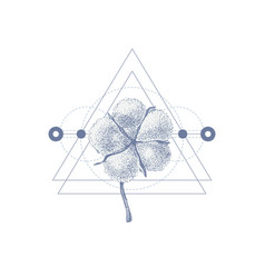 geometry tattoo with hand drawn cotton vector image