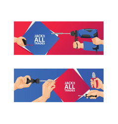 Hand tool construction handtools hammer pliers vector