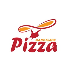 handmade pizza vector image