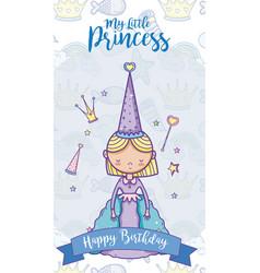 Happy birthday card for girls vector