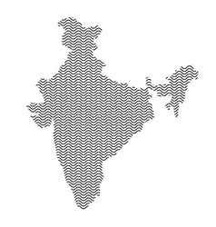 India map country abstract silhouette of wavy vector