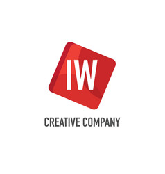 initial letter iw logo template design vector image