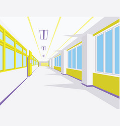 interior of school hall in flat style vector image