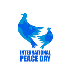 international peace day greeting card with flying vector image