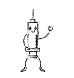medical injection kawaii character vector image