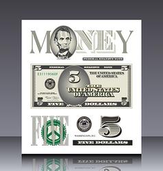 Miscellaneous US bill elements vector