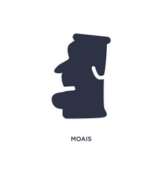Moais icon on white background simple element vector