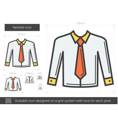Necktie line icon vector