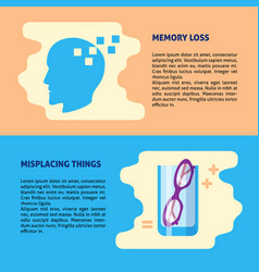 neurological problems concept banner templates in vector image