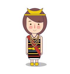 North nusa tenggara province fashion cute girl vector