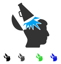 Open mind megaphone flat icon vector