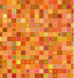 Orange color square mosaic background design vector image