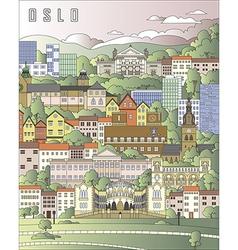 Oslo City Poster vector