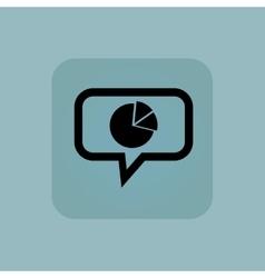 Pale blue diagram message icon vector