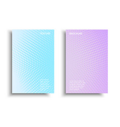 Pastel-gradient-brochure vector