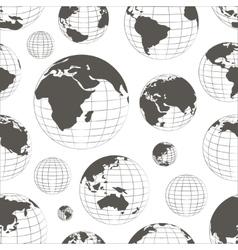 Pattern of nine globes vector image