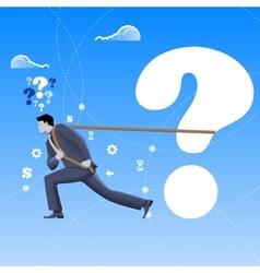 Problem solver business concept vector