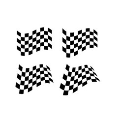 Race flag icon simple design flag logo vector