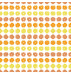 seamless pattern with orange lemon grapefruit vector image