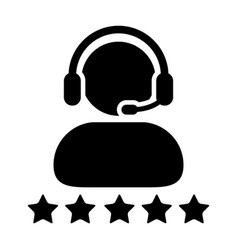 Service icon customer star ratings for male vector