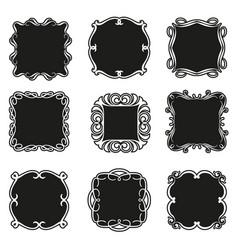 set decorative patterns for design frameworks vector image