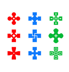 set heal and cure icon art vector image