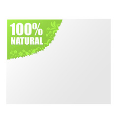 sign 100 natural vector image
