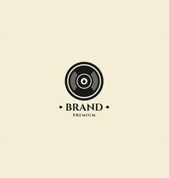 Simple bullet head stamp logo design template vector